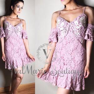 Elegant lace summer wedding guest dress